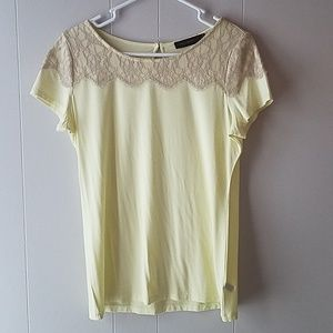 NWOT The Limited Top. Bright yellow.